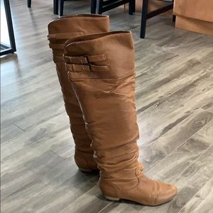 Steve Madden Over the Knee Brown Boots